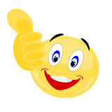 Emoji thumbs up approval sign