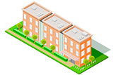 Isometric Large Hotel