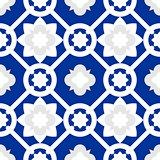 Tile indigo blue decorative floor tiles vector  pattern