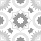 Tile grey, black and white decorative floor tiles vector pattern