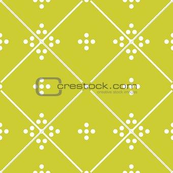 Tile green decorative floor tiles vector pattern