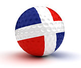 Dominican Republic Golf Ball