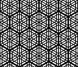 Seamles geometric ornament based kumiko in black and white