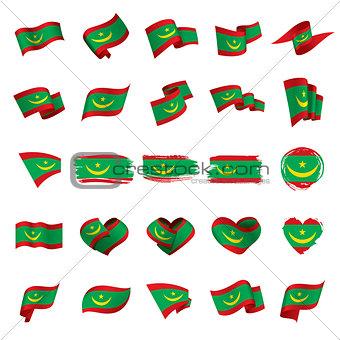 Mauritania flag, vector illustration