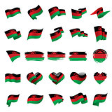 Malawi flag, vector illustration