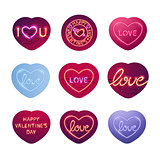 Glowing Neon Valentine Signs Sticker Pack
