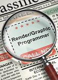 Rendergraphic Programmer Job Vacancy. 3D.