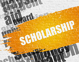 Scholarship on White Wall.