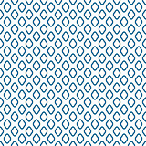 Blue line rhombus shapes seamless vector pattern.