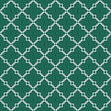 Quatrefoil green seamless vector pattern.