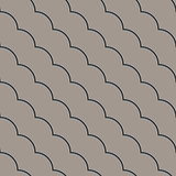 Diagonal ruffle lines seamless vector pattern.