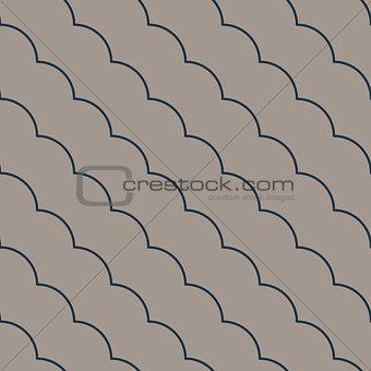 Diagonal ruffle lines seamless vector pattern.