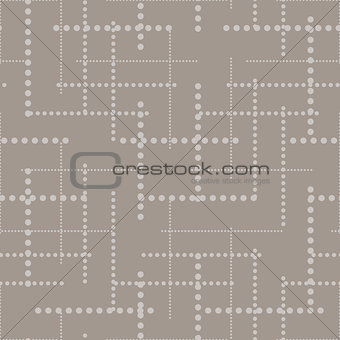 Dotted lines grey seamless vector pattern.