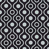 Wavy dark seamless vector pattern.