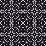 Geometry flower dark seamless vector pattern.