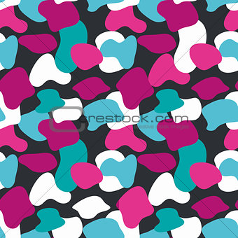 Blue and pink camouflage masking vector pattern.