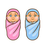 Cartoon newborn vector illustration.