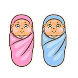 Cartoon newborn vector illustration.