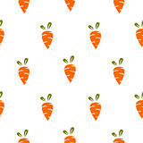 Carrot simple seamless vector pattern.