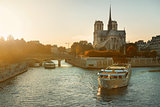 Boat near Notre Dame