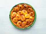 rustic golden french apple tarte tatin