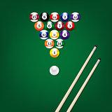 Billiard Balls Poster