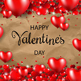Happy Valentines Day Border Cardboard Background