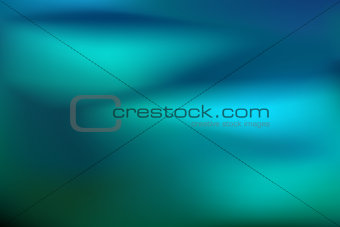 Abstract teal background. Blurred turquoise water backdrop. Vector illustration for your graphic design banner or aqua poster