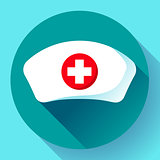 Nurse hat icon vector flat nurse icon