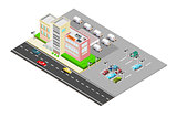 Isometric delivery business with landscape