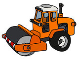 The orange road roller