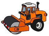 The orange road roller