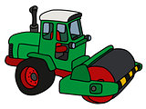 The green road roller