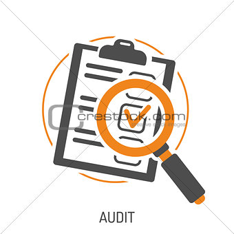 Audit and Test Flat Icon Set