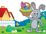 Bunny holding Easter basket topic 4