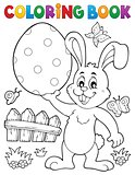 Coloring book Easter rabbit theme 9