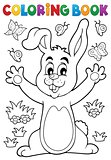 Coloring book rabbit theme 6