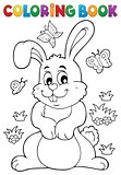 Coloring book rabbit theme 7