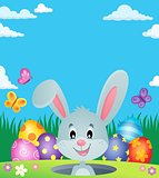 Easter eggs and lurking bunny theme 3