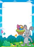 Frame with Easter bunny thematics 1