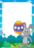 Frame with Easter bunny topic 9