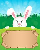 Parchment and Easter bunny theme 1