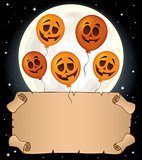 Small parchment and Halloween balloons 1