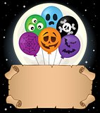 Small parchment and Halloween balloons 2
