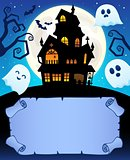 Small parchment and haunted mansion 1