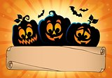 Wide parchment and Halloween pumpkins 2