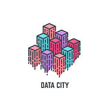 Data city skyscrapers