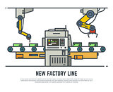 Factory belt line