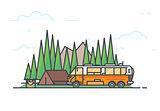 Camper caravan and camping