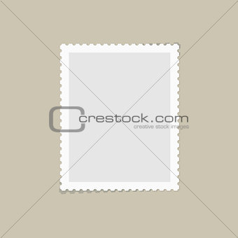 Postage stamp for postcard
